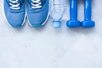 shoes and weights for personal training